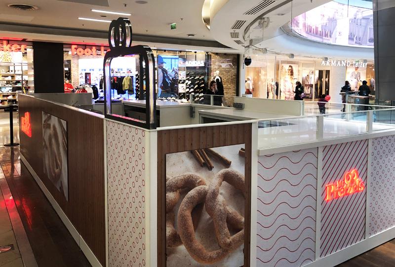 novakiosk stand centre commercial