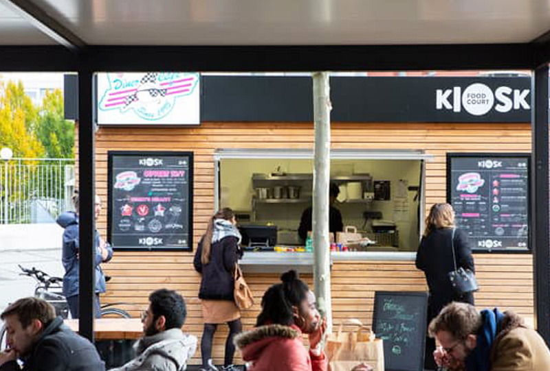 food court novakube kiosque